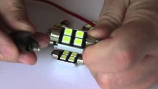 żarwka led canbus rurka 36 mm 4 smd 5050 radiator