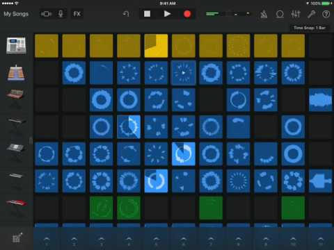 [Garageband 2.1.1 for iPad] Live Tracks Dubstep Demo Song