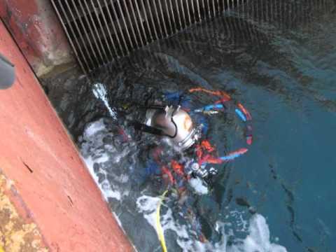 Underwater inshore Hydro-Blasting cleaning