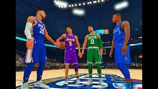 The 2017 NBA Rookies Dunk Contest! Lonzo Ball, Ben Simmons, Dennis Smith Jr., Jayson Tatum!