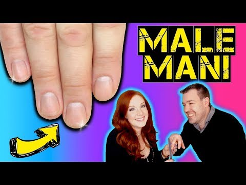 MALE MANI !! How To Perform A Professional Male MANicure For Men At Home - Doing My Husbands Nails