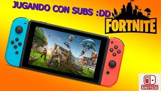 Fortnite XDD Bugs / Playing Fortnite Battle Royale On The Nintendo Switch With Subscribers 😄😄😄