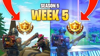 Fortnite Season 5 Week 5 Secret Battle Star Locations