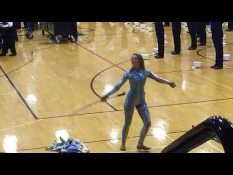 The Elkhart Central Blazer Brigade had to move their contest performance indoors tonight because of