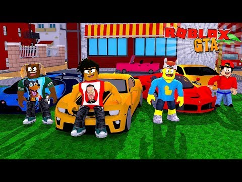 ROBLOX VEHICLE SIMULATOR - DONUT PLAYS GTA FOR THE FIRST TIME WITH ROPO AND STEALS HIS CAR!!