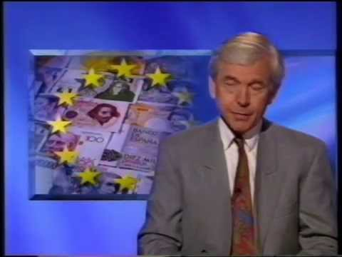 BBC Six o'clock news Maastricht treaty and Exchange Rate Mechanism problems 1993