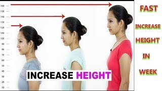 How to Increase Height in 1 Week - Men & Women - Become Taller - Naturally