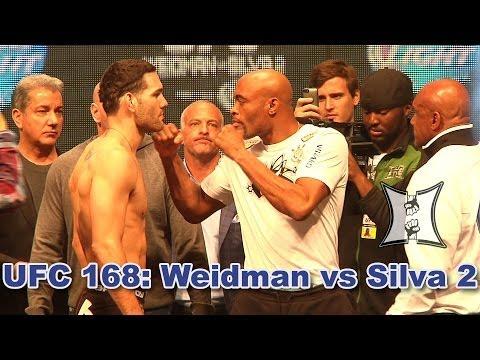 UFC 168: Chris Weidman Anderson Silva 2 Weigh-ins + Stdown (HD)