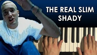 Download lagu How To Play - Eminem - The Real Slim Shady (PIANO TUTORIAL LESSON)