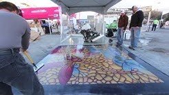 Duro-Floor Color System Polished Concrete at 2014 World of Concrete