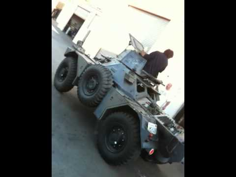 Daimler Ferret scout car test drive