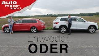 Skoda Superb Combi vs. Skoda Kodiaq | Entweder ODER | auto motor und sport