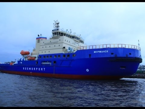 "New Icebreaker ""Murmansk"" project 21900M, Neva river, Saint-Petersburg"