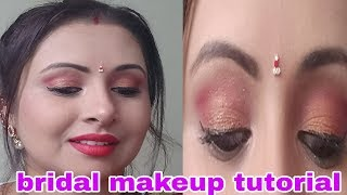 Indian BRIDAL makeup tutorial steps ,Full coverage and HD makeup in Hindi  |kaurtips ♥️