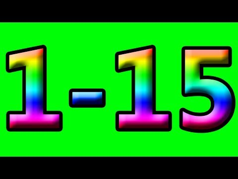 Simple Learning to Count to 15 Counting 1-15 Rainbow Numbers Toddlers Preschool Kids Children