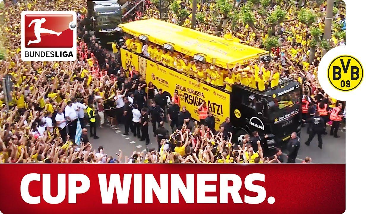 Borussia Dortmund's Cup Celebrations – Aubameyang, Reus, Dembele & Co.