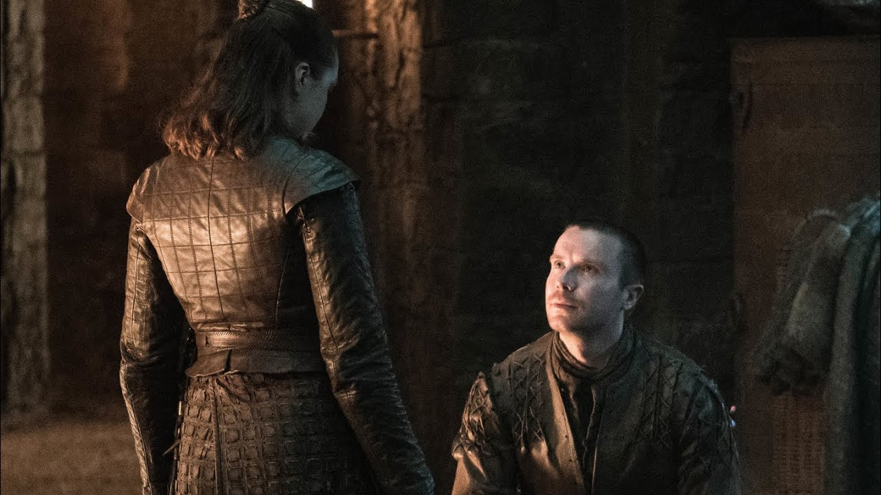 Arya And Gendry Game Of Thrones Season 1 2 3 And 8 Episode 4