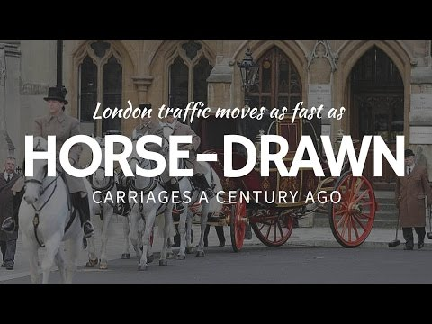Horse-drawn Carriages Move AS FAST AS London Traffic Today