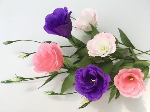 ABC TV | How To Make Lisianthus Paper Flowers From Crepe Paper - Craft Tutorial