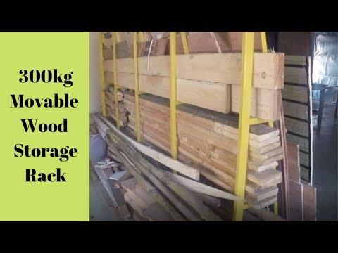 Movable Wood Storage Rack - DIY - 300kg Capacity