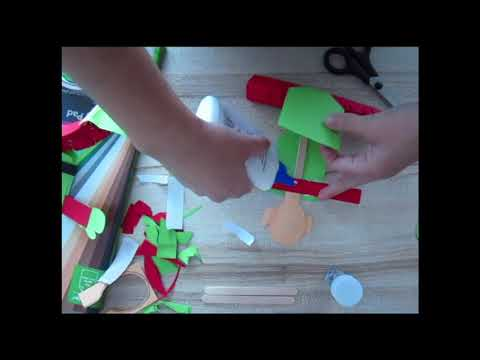 How to make a paper toy Christmas Elf