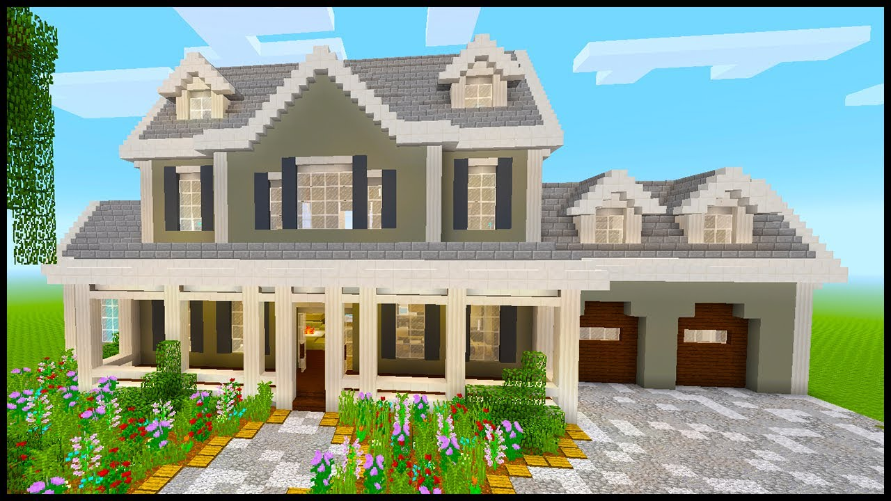 Minecraft  How To Build A Large Suburban House  3