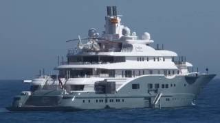 RADIANT 110m private yacht visit Marbella.Cost price €240million