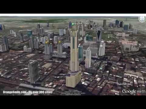 3D monuments of Bangkok in virtual flight