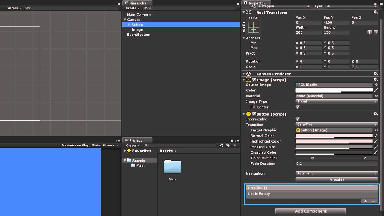UI Events and Event Triggers - Unity Official Tutorials