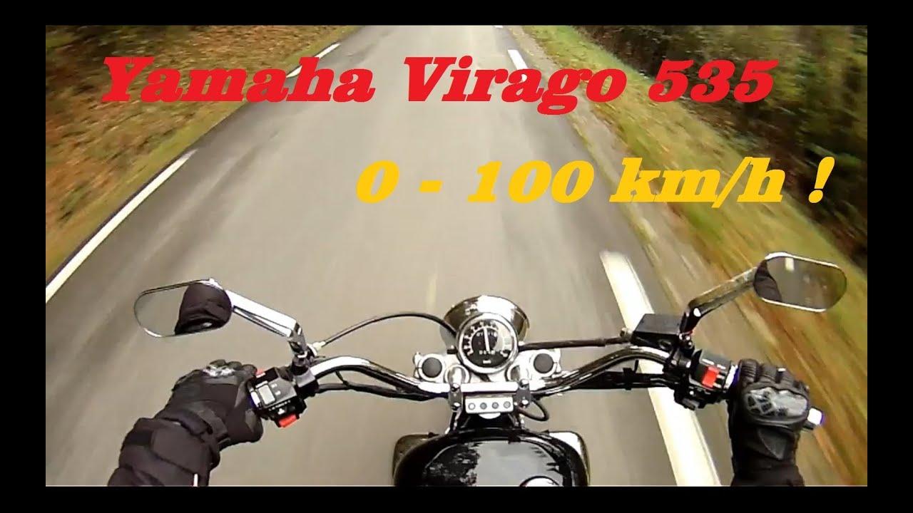 ► 0-100 km/h - Yamaha Virago 535 ◄