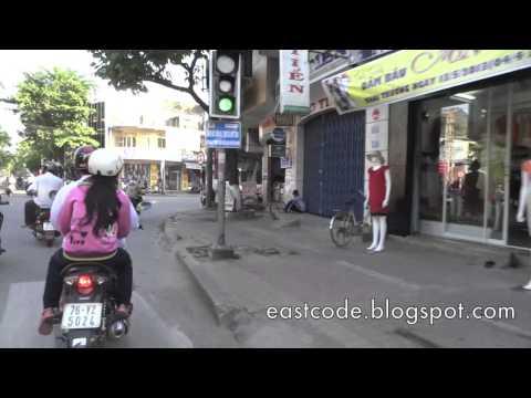 riding bike into Tp Quang Ngai City