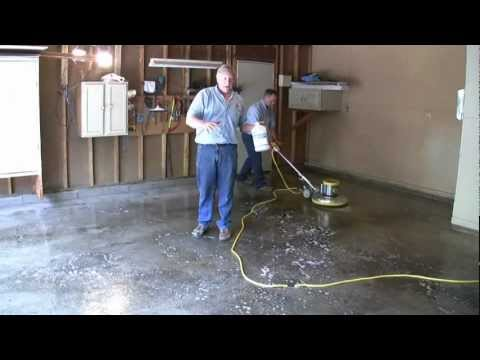 Painting A Garage Floor Part 3 Degreasing The Floor Youtube