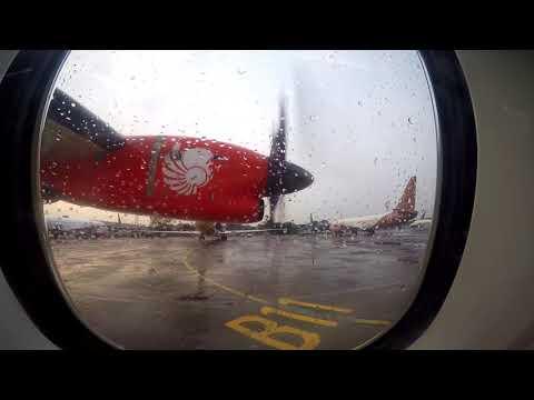 WET FLIGHT EXPERIENCE - WINGS AIR IW1720   HLP - BDO    bareng pak jokowi mendarat