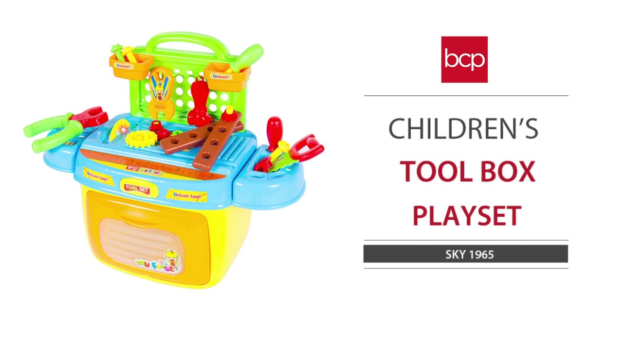 kids toy tool box play set with sound u0026 lights compact portable