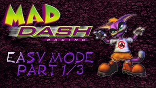 Let's Play: Mad Dash Racing *100%* - Episode 1 - Easy Mode: Part 1/3
