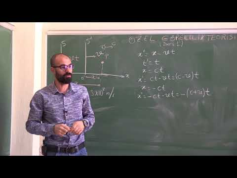 Einstein'ın Özel Görelilik Teorisi_ Ders 1 (Newton Dönüşümleri, Lorentz Dönüşümleri_Kesim 1)