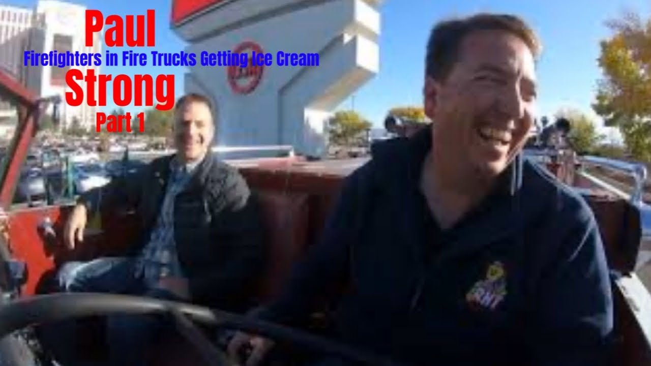 Firefighters in Fire Trucks getting Ice Cream - Paul Strong Part 1
