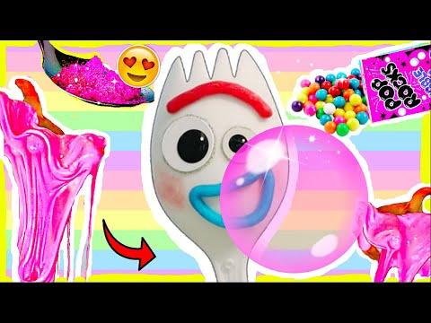 FORKY SQUISHY BUBBLE GUM SLIME! DIY Kaugummi Schleim von Forky Toy Story 4 Kino  I PatDIY