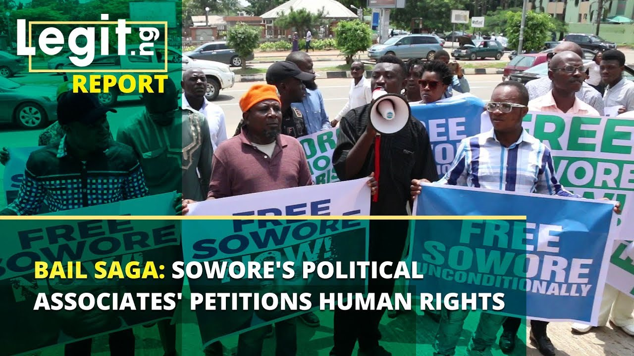 Download Bail saga: Sowore's political associates' petitions Human Rights Commission