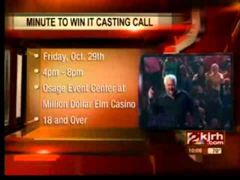 Osage Million Dollar Elm Casino - Minute To Win It Casting
