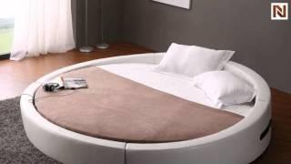 Opus - Modern Round Leather Bed  Vgkcopus