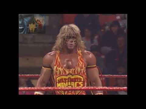 UNRELEASED Tag Match, Ultimate Warrior & Bret Hitman Hart Vs Papa Shango & Kamala 13th Oct 1992 - YouTube