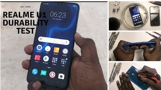 Realme U1 -Durability test- Drop test, Bend test, Screen test, Scratch test, Water test, Flame test