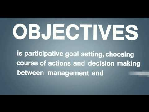 Management by Objectives: A Video Explanation