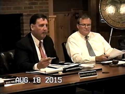 Tewksbury, MA: Board of Selectmen Meeting: August 18, 2015: Part 1 of 3