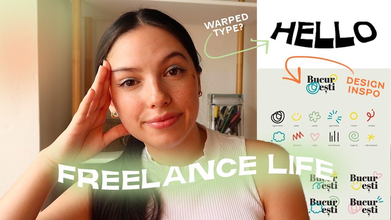 Freelance Life | what i'm working on, warped type tutorial!