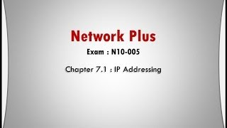 network plus ch 7 1 ip addressing