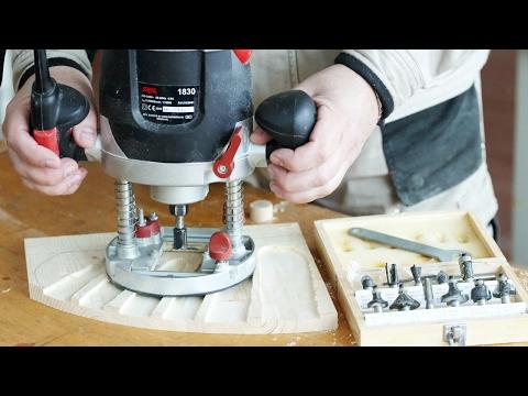 Фрезерование подставки для ножей и обзор набора фрез