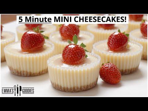 EASY 5 Minute MINI CHEESECAKES   Cheesecake bites 2 WAYS!