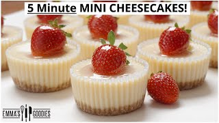 EASY 5 Minute MINI CHEESECAKES | Cheesecake bites 2 WAYS !